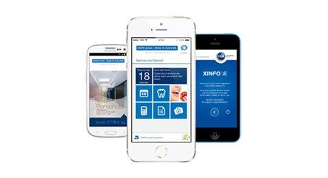Immagini schermate iPhone Android App XINFO su Phone - Studio dentistico associato Motta Jones Rossi a Milano centro